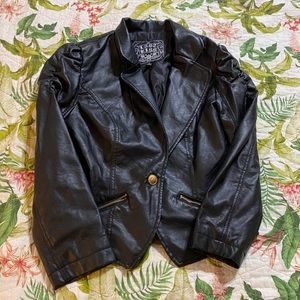 Last Kiss 😘 Pleather Jacket Size M